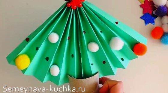 поделка елка новогодняя детская