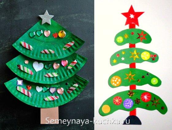 новогодние елки поделки для детей 2 - 3 лет