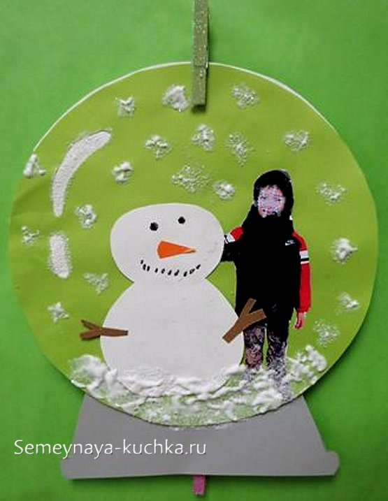 поделка снеговик на новый год для детей