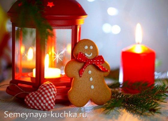 украшение стола печенье новый год