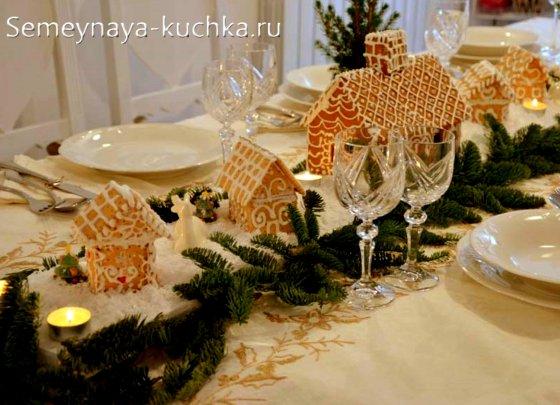 украшение стола новогоднего