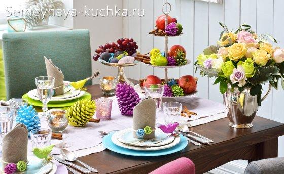 красивая новогодняя сервировка стола
