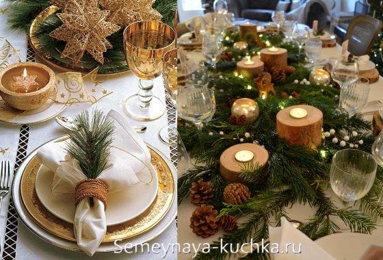 новогодний стол украшение своими руками