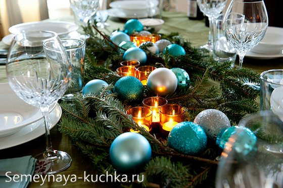 сервировать стол на новый год дома