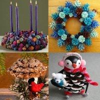 новогодние поделки для детей из шишек