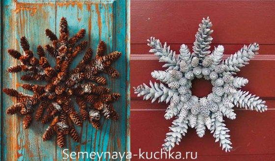 поделки из шишек новогодние
