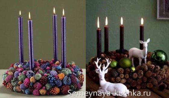 шишки со свечами