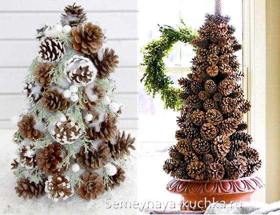 поделки елки из шишек