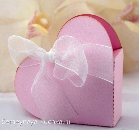 коробочка в виде сердца