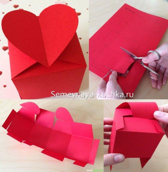 коробка с сердечками мастер-класс