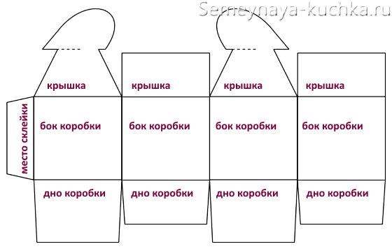 схема сборки коробки с сердечком