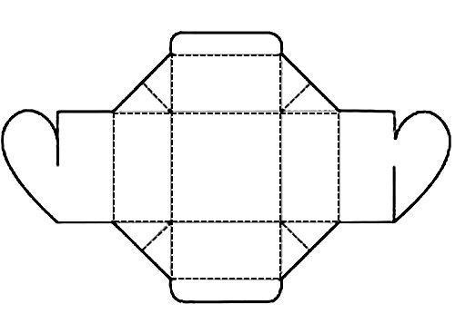 чертеж коробочки с сердечком