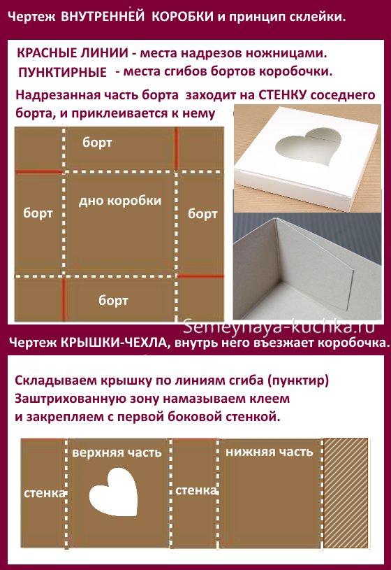 как сделать коробку на день валентина
