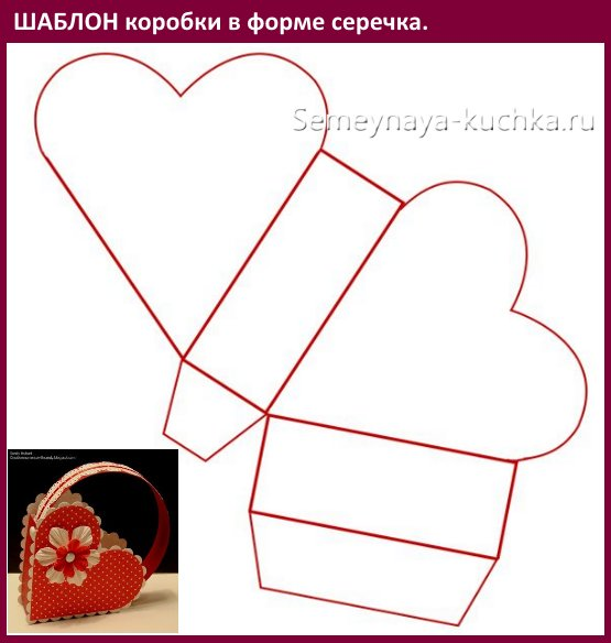 схема коробочки с сердцем