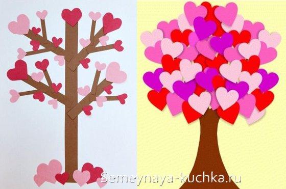 поделки из бумаги на День Валентина