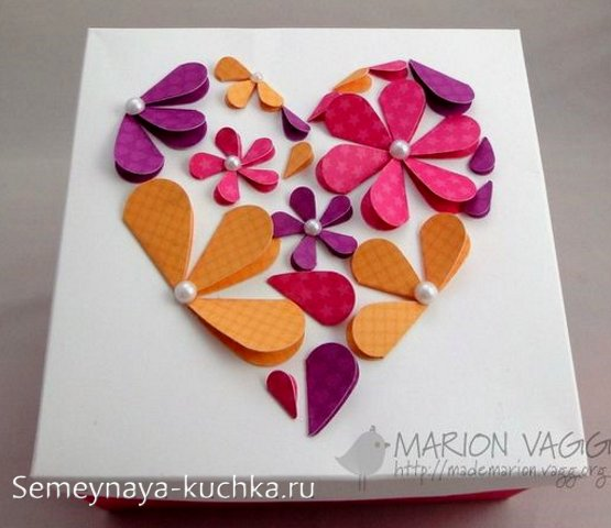 поделки из бумаги на Валентинов День