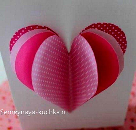поделки с сердечками из бумаги