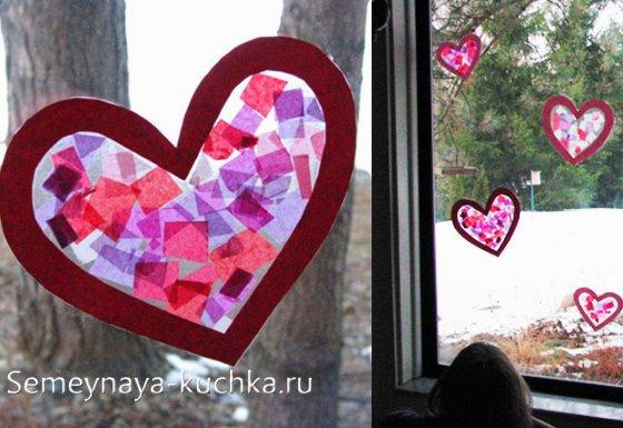 поделка сердечко на Валентинов День