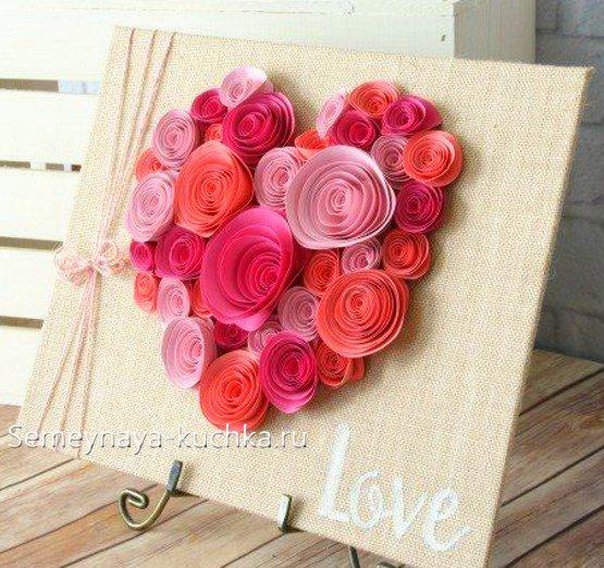 поделки из роз на валентинов день