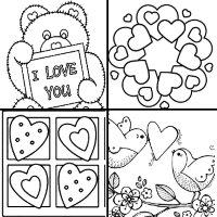 раскраски с сердцем на день валентина