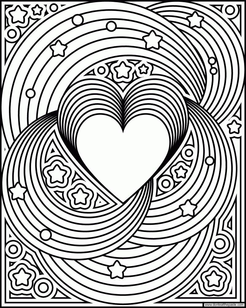 раскраски антистрес с сердцем