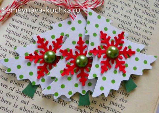 поделки с бумажными снежинками