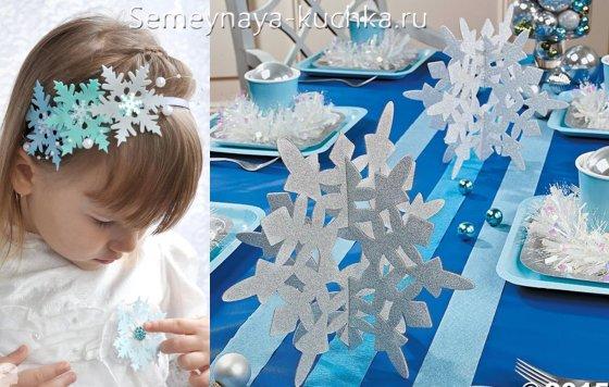 снежинки из бумаги для украшения нового года