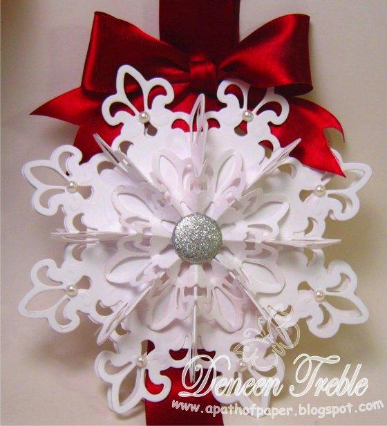 красивые новые снежинки белые