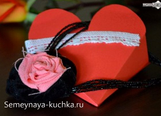 валентинка коробка своими руками