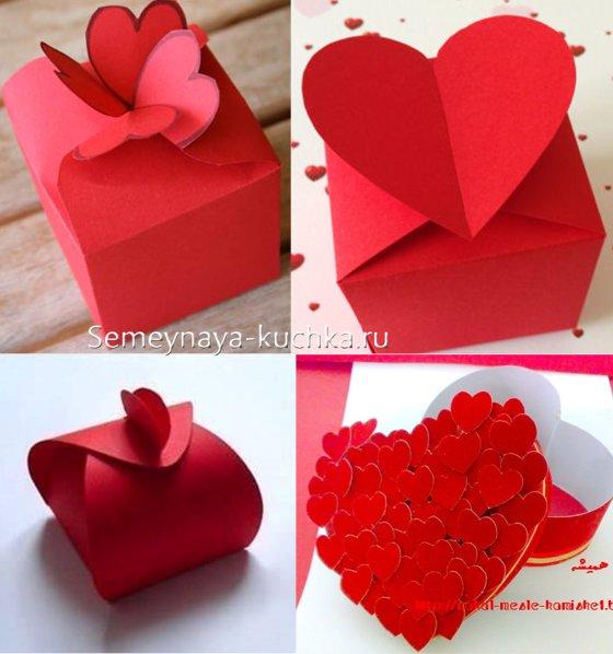 коробка с сердцем валентинка