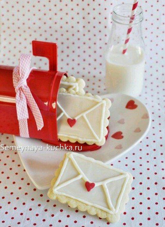 валентинки печенье для коробочки сердца
