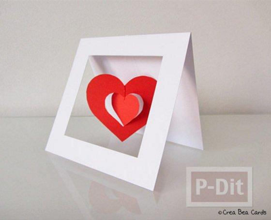 валентинка сердечки сделать