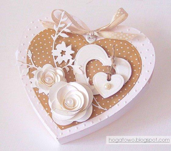 валентинка с цветами сделать