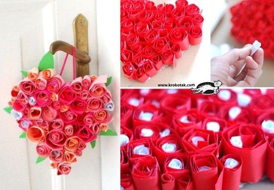 валентинки розы с записками сделать самим