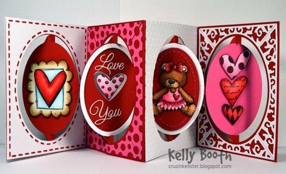 открытка раскладушкана день Валентина