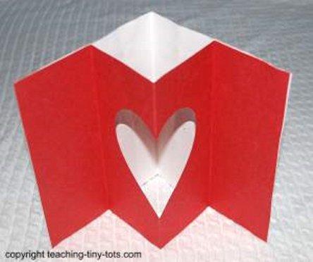 открытка с сюрпризом на день Валентина