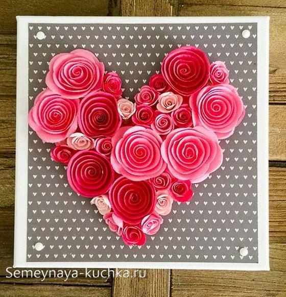объемная открытка на Валентинов день