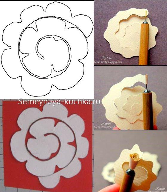 розы на открытке на день валентина