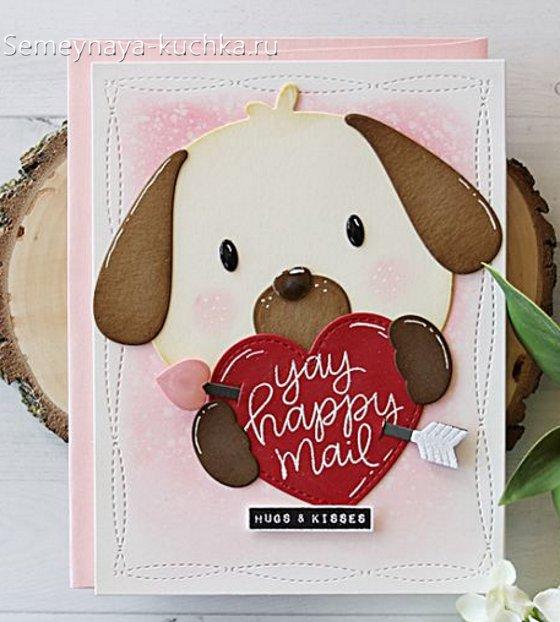 детская открытка на Валентинов день