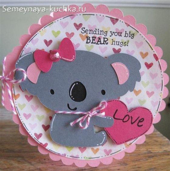 етская открытка на Валентинов день
