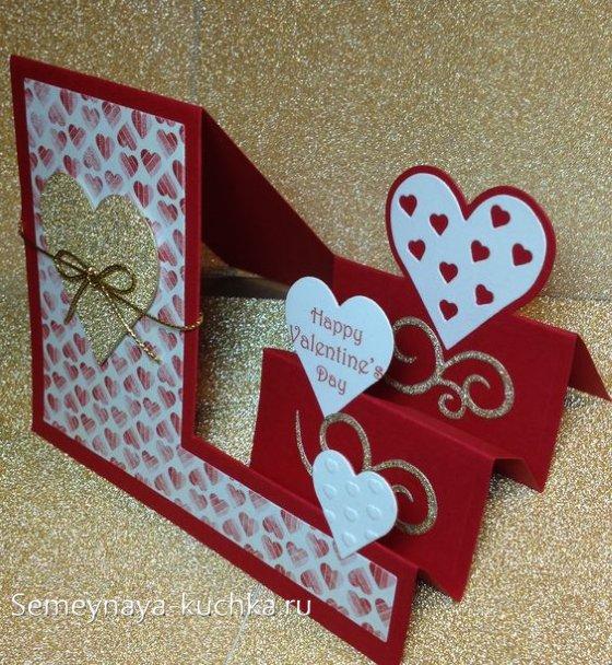 открытка своими руками на день Валентина
