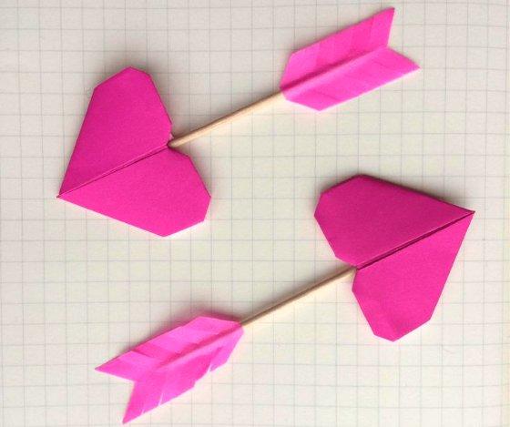 поделка оригами сердечко из бумаги