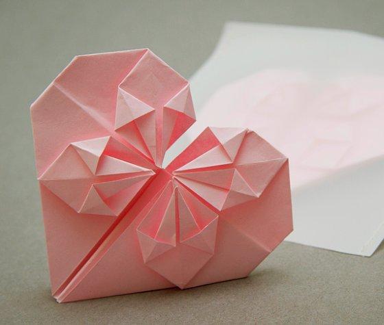 как сложить сердце из бумаги оригами мастер класс