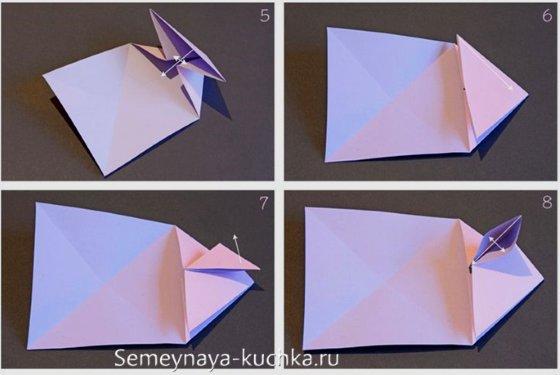 пошагово сердце из бумаги
