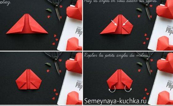 объемное сердце из бумаги мастер