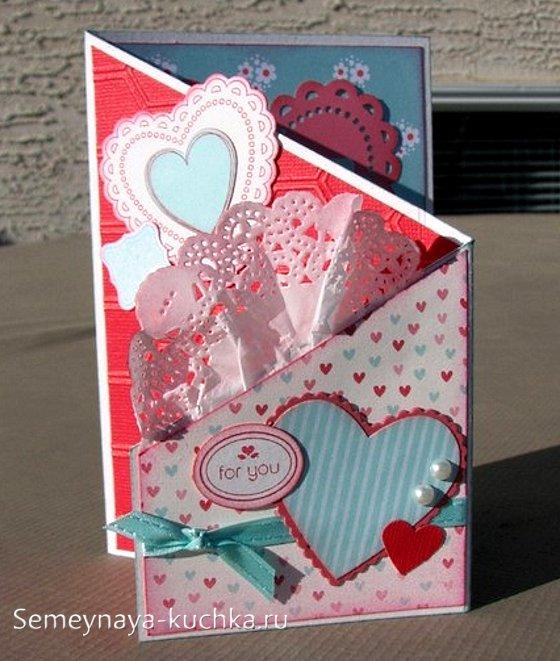объемная открытки на День Влюбленных