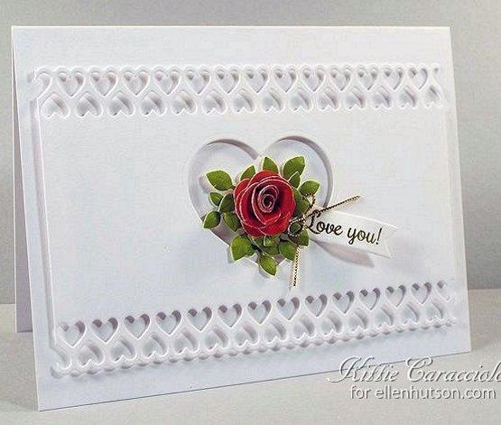 открытки с окошком на День Влюбленных