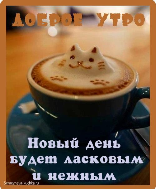 доброе утро картинка чашка кофе