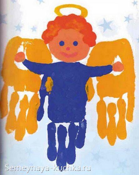 рисование ладошками для детей на рождество