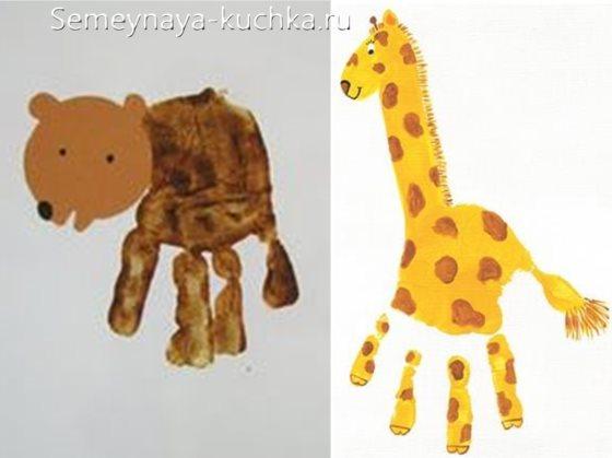 рисование ладошками в детском саду